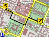 Routing Gabelsberger Str.