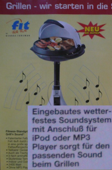 Grill mit Soundfunktion